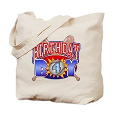 Baseball 4th Birthday Tote Bag