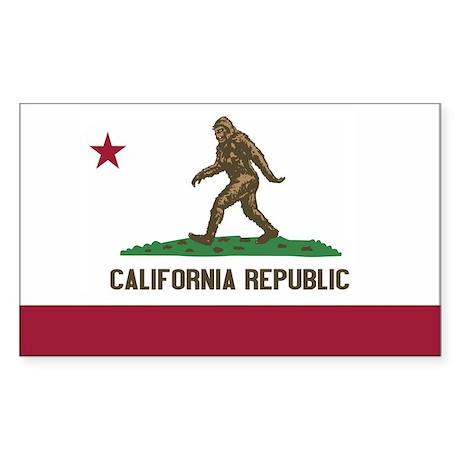 California Republic Bigfoot Sticker