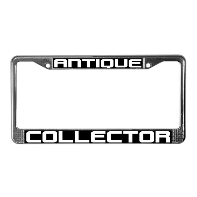 Antique Collector License Plate Frame by SHOPOFSPEED