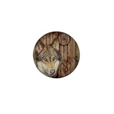rustic western country native dream ca Mini Button