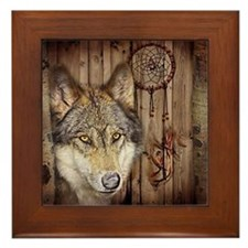rustic western country native dream ca Framed Tile