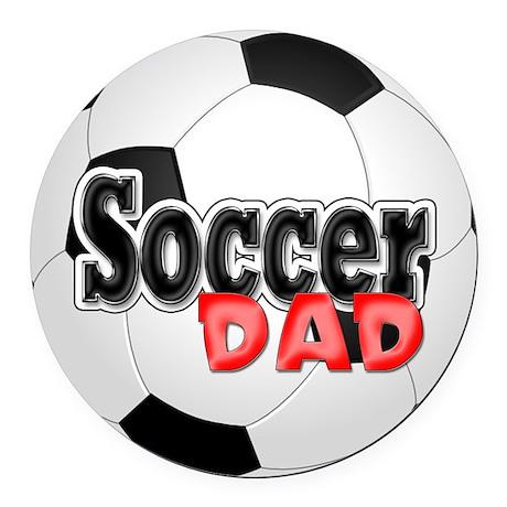 Soccer Dad Round Car Magnet