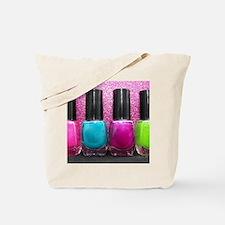 Bright Nail Polish Tote Bag