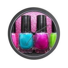 Bright Nail Polish Wall Clock