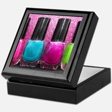 Bright Nail Polish Keepsake Box