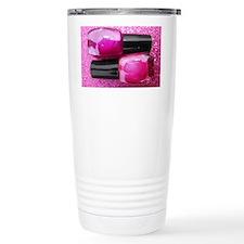 Pink Nail Polish Travel Coffee Mug