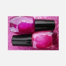 Pink Nail Polish Rectangle Magnet