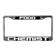 Food Chemist License Plate Frame