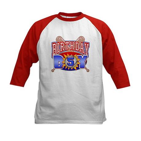 Baseball 5th Birthday Kids Baseball Jersey