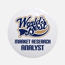 Market Research Analyst Ornament (Round)