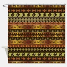 TRIPPY TRIBAL Shower Curtain