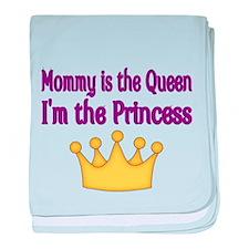 Mommy is the Queen baby blanket