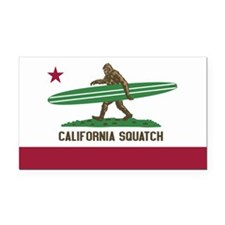 California Squatch Rectangle Car Magnet
