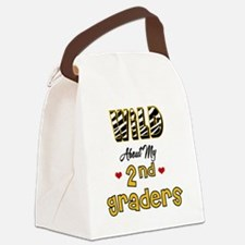 Wild About my 2nd Graders Canvas Lunch Bag