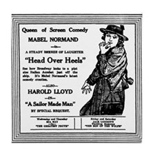 Mabel Normand Head Over Heels Tile Coaster