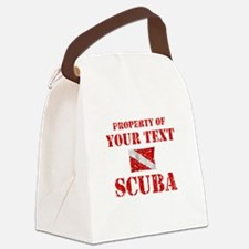 Personalized Scuba Canvas Lunch Bag