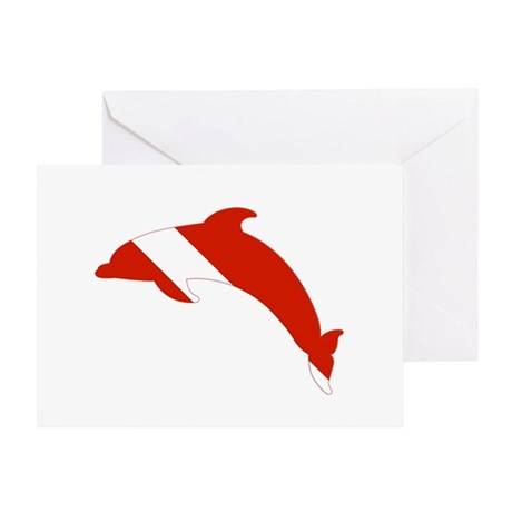 Dolphin Diver Greeting Card