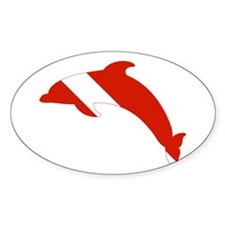 Dolphin Diver Decal