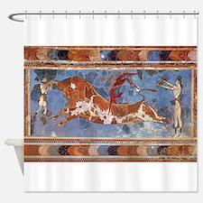 Cute Greek Shower Curtain
