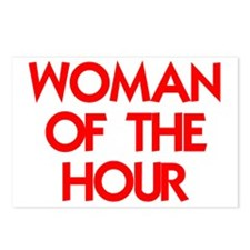 WOMAN OF THE HOUR.psd Postcards (Package of 8)