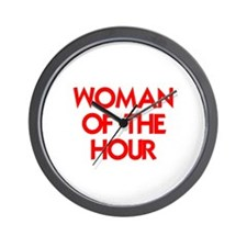 WOMAN OF THE HOUR.psd Wall Clock