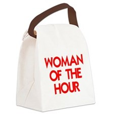 WOMAN OF THE HOUR.psd Canvas Lunch Bag
