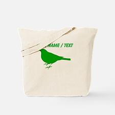 Custom Green Robin Silhouette Tote Bag