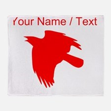 Custom Red Falcon Silhouette Throw Blanket