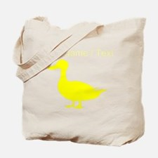 Custom Yellow Duck Silhouette Tote Bag