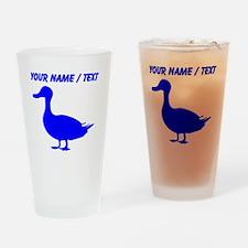 Custom Blue Duck Silhouette Drinking Glass