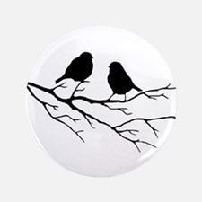 Two Little white Sparrow Birds Black silhouette 3.