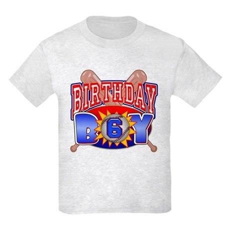 Baseball 6th Birthday Kids Light T-Shirt
