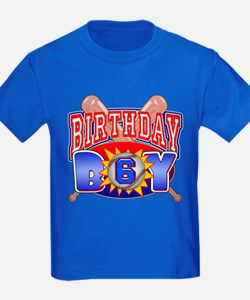 Baseball 6th Birthday T