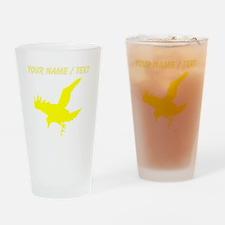 Custom Yellow Eagle Silhouette Drinking Glass
