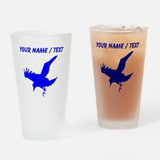 Custom Blue Eagle Silhouette Drinking Glass
