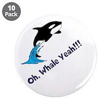 "Whale Shirt 3.5"" Button (10 pack)"