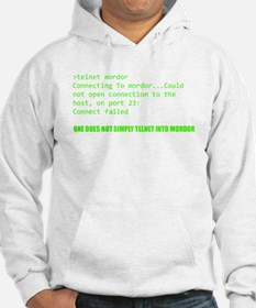 One Does Not Simply Telnet Into Mordor Hoodie