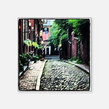 """Boston Alley Way Square Sticker 3"""" x 3"""""""