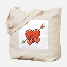 Hearts and Arrow Valentine's Day Design Tote Bag