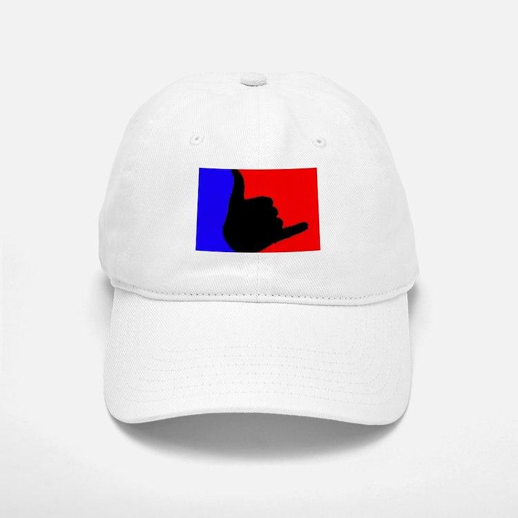 Blue/Red Shaka Baseball Baseball Cap