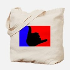 Blue/Red Shaka Tote Bag