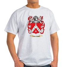 Telford Family Crest (Coat of Arms) T-Shirt