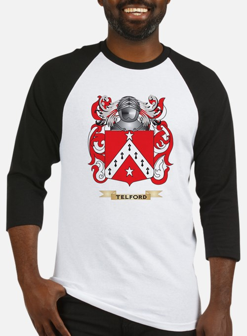 Telford Family Crest (Coat of Arms) Baseball Jerse