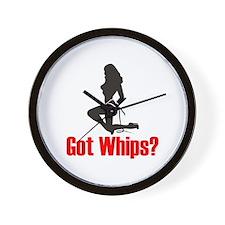 Got Whips? Wall Clock
