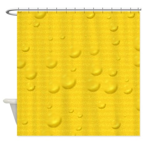 Yellow Striped Wet Shower Curtain By MehrFarbeimLeben