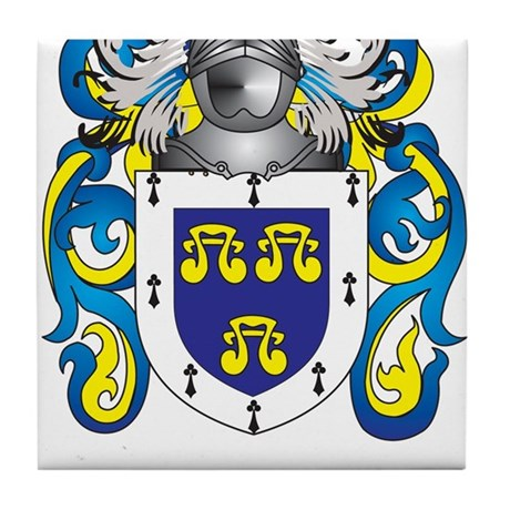 Tenbrug Family Crest (Coat of Arms) Tile Coaster by ...