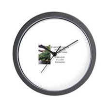 Believe in Kayaking Wall Clock