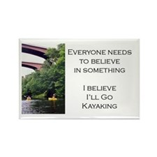 Believe in Kayaking Rectangle Magnet (100 pack)