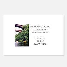 Believe in Kayaking Postcards (Package of 8)
