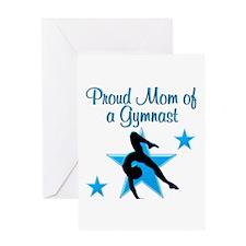 TOP GYMNAST MOM Greeting Card